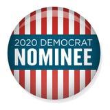 Elección Pin Button de 2020 campañas o insignia con las estrellas patrióticas Foto de archivo