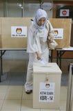 Elección presidencial 2014 de Indonesia Imagen de archivo libre de regalías