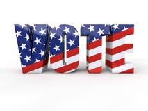 Elección presidencial de los E.E.U.U. Imágenes de archivo libres de regalías