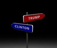 Elección presidencial 2016 de los E.E.U.U. stock de ilustración
