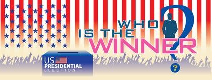 Elección presidencial de los E.E.U.U. de la bandera Fotos de archivo
