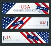 Elección presidencial de los E.E.U.U. - plantilla Fotografía de archivo libre de regalías