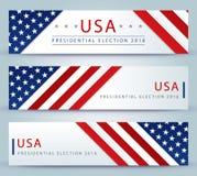 Elección presidencial de los E.E.U.U. - plantilla Fotografía de archivo