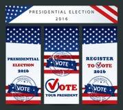 Elección presidencial de los E.E.U.U. - plantilla Imágenes de archivo libres de regalías