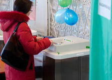 Elección presidencial de Rusia Imagen de archivo libre de regalías