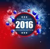 Elección presidencial 2016 en fondo de los E.E.U.U. Puede ser utilizado como prohibición Imágenes de archivo libres de regalías
