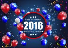 Elección presidencial 2016 en fondo de los E.E.U.U. Puede ser utilizado como prohibición Imagen de archivo