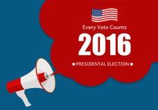 Elección presidencial 2016 en fondo de los E.E.U.U. Puede ser utilizado como prohibición Foto de archivo libre de regalías