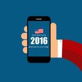 Elección presidencial 2016 en fondo de los E.E.U.U. Puede ser utilizado como prohibición Foto de archivo