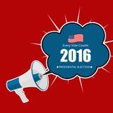 Elección presidencial 2016 en fondo de los E.E.U.U. Puede ser utilizado como prohibición Fotos de archivo