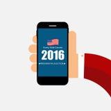 Elección presidencial 2016 en fondo de los E.E.U.U. Puede ser utilizado como prohibición Fotografía de archivo libre de regalías