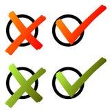 Elección - verde de la cruz y del gancho/rojo libre illustration
