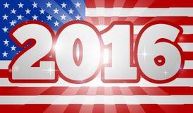 Elección 2016 del concepto de la bandera americana Fotografía de archivo libre de regalías