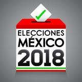 Elecciones Мексика 2018, мексиканськие избрания 2018 испанских языков отправляет СМС Стоковые Изображения RF