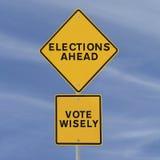 Elecciones a continuación Foto de archivo libre de regalías