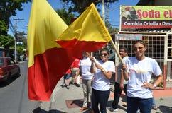 Elecciones 2014 de Costa Rican: Partidarios del PAC Imagen de archivo