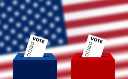 Elecciones de Estados Unidos Elecciones midterm 2018 de los E.E.U.U.: la raza para el congreso Elecciones al senado de los E.E.U. ilustración del vector