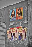 Elecciones del egipcio de El Cairo Campaining Fotografía de archivo libre de regalías