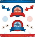 Elecciones en los E.E.U.U. - cintas y banderas Foto de archivo libre de regalías