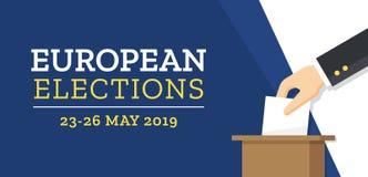 Elecciones europeas 2019 stock de ilustración