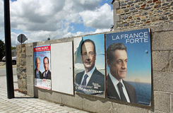 Elecciones francesas 2012 Foto de archivo libre de regalías