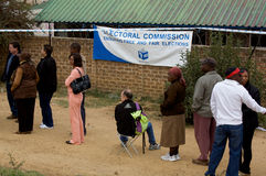 Elecciones generales 2009 de Suráfrica Imágenes de archivo libres de regalías