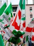Elecciones italianas: Veltroni en Milano Imágenes de archivo libres de regalías