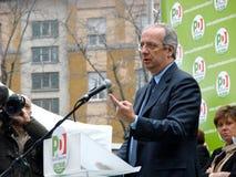 Elecciones italianas: Veltroni en Milano Fotografía de archivo libre de regalías