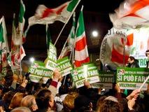 Elecciones italianas: Veltroni, paladio Imágenes de archivo libres de regalías