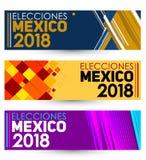 Elecciones México 2018, eleições de México 2018 espanhóis text, eleição presidencial mexicana ilustração do vetor