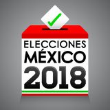 Elecciones Mexico 2018, de Verkiezingen 2018 Spaanse tekst van Mexico Royalty-vrije Stock Afbeeldingen