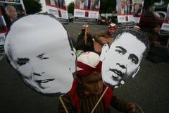 Elecciones presidenciales de Obama y de McCain foto de archivo