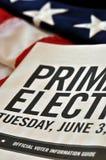 Elecciones primarias Fotografía de archivo libre de regalías