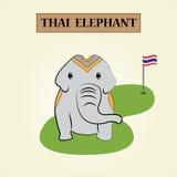 Elecphant tailandese Immagine Stock Libera da Diritti