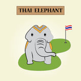 Elecphant thaïlandais Image libre de droits
