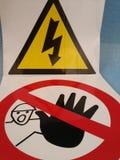 Elecricity und Halt Stockfotografie