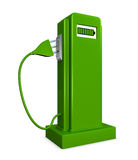 Elecrtic pump. Concept of a pump for recharge electric cars (3d render royalty free illustration