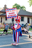 Elect a Clown at Parade Stock Images