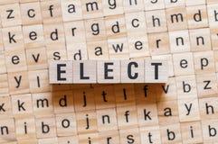 Elect word concept stock photos