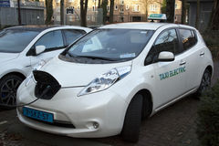 Electic taxi Stock Images