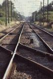 Electic Train Tracks. Railway Line Stock Photography