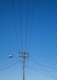 electicity lampost wykłada koszty stałe Zdjęcia Royalty Free