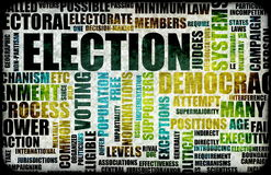 Election. Process Campaign as a Concept Background Stock Photography
