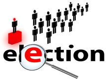 Election. Illustration of election theme against white background Royalty Free Stock Photo