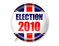 Election 2010 UK Button. 3-D Election 2010 UK Button isolated on white with drop shadow Royalty Free Stock Photo