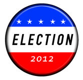 Election 2012. Graphic with an american election button Royalty Free Stock Image