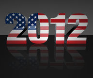 Election 2012. Year 2012 with flag wrapped over it to promote voting in the presidential election. Patriotic image stock illustration