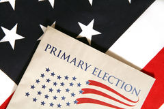Election. Booklet on flag royalty free stock photography
