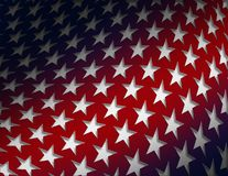 Election background. Patriotic American stars on waving red background Royalty Free Stock Photography