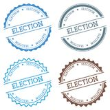 Election badge isolated on white background. Flat style round label with text. Circular emblem vector illustration Royalty Free Stock Image